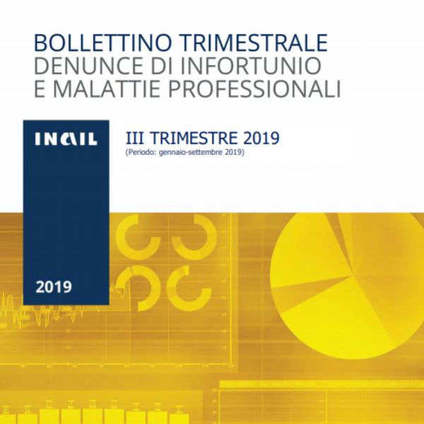 Infortuni e malattie professionali: i dati dei primi mesi del 2019